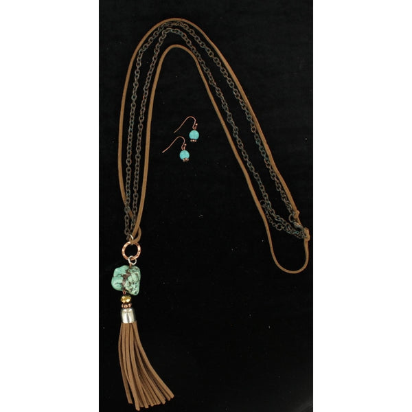 Ladies Turquoise Necklace Set - Accessories