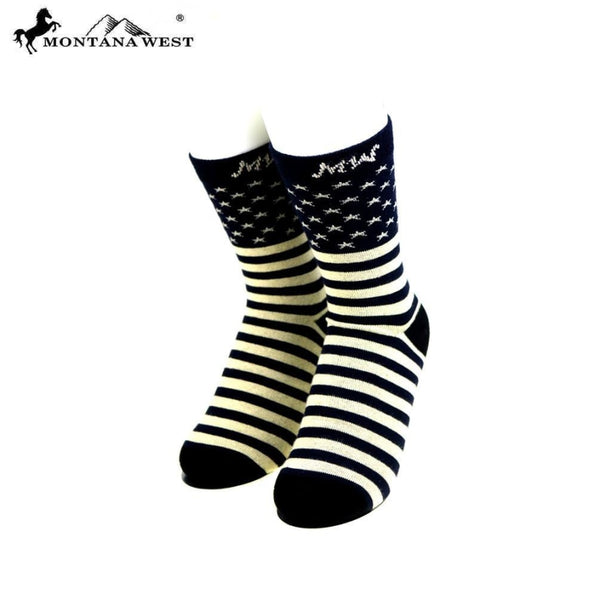Montana West American Pride Collection Socks - Navy - Accessories