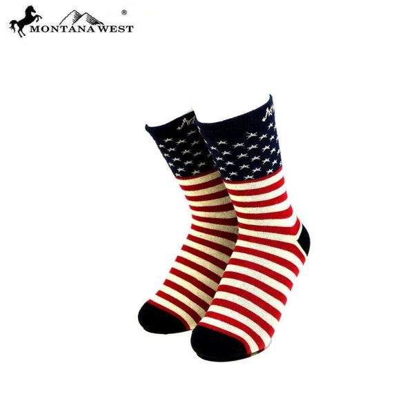 Montana West American Pride Collection Socks - Red - Accessories