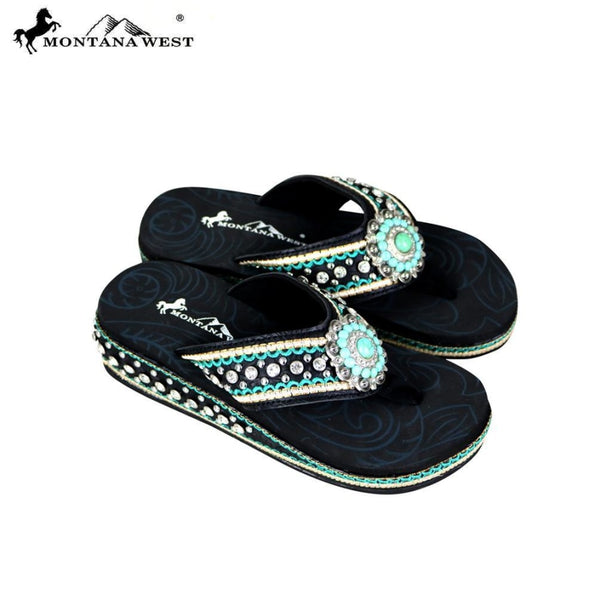 Montana West Bling Bling Flip-Flops Collection - 7 - Womens