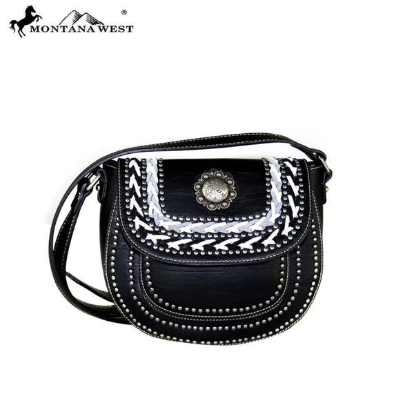 Montana West Concho Collection Crossbody Saddle Bag - Accessories