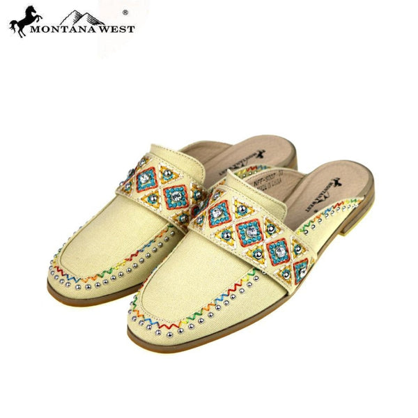 Montana West Embroidered Collection Mule Slide - Womens Boots