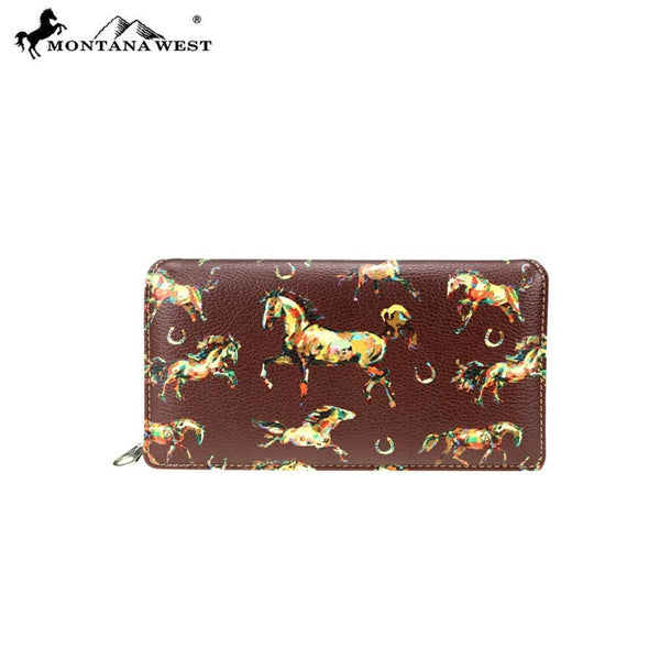 Montana West Horse Collection Secretary Style Wallet - Bags & Purses