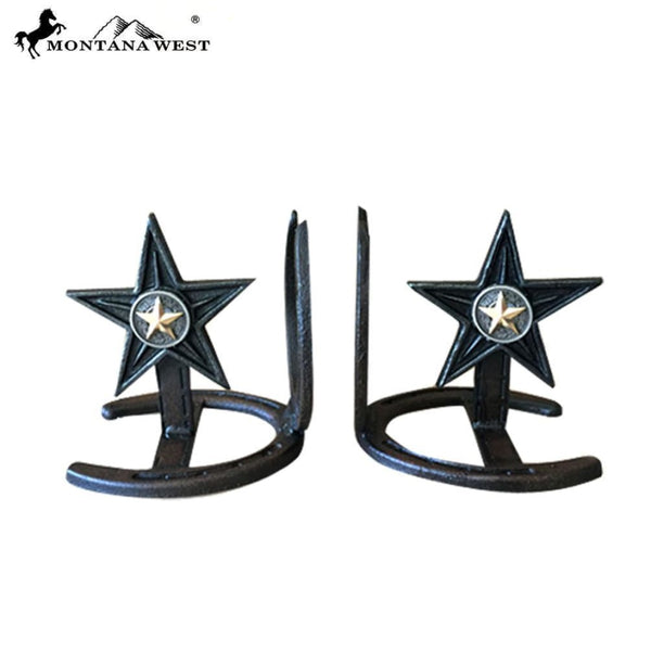 Montana West Metal Lone-Star Book Ends - Lifestyle