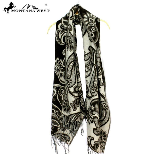 Montana West Paisley Fringe Scarf - Accessories