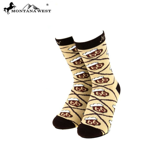 Montana West Route 66 Collection Sock Assorted Colour - Coffee - Accessories