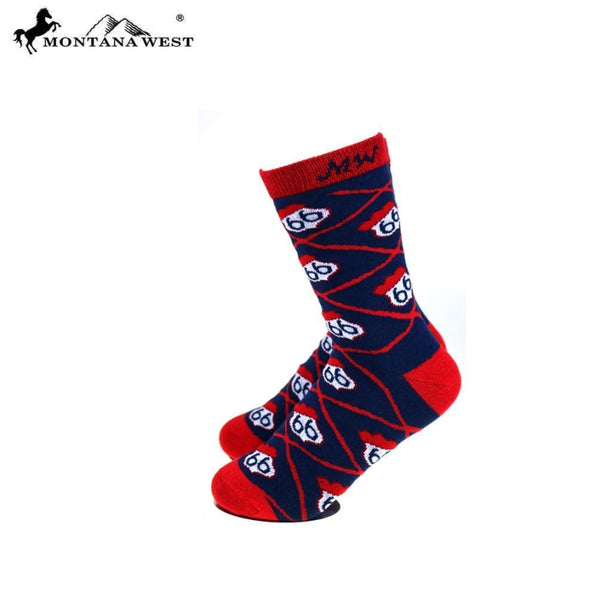 Montana West Route 66 Collection Sock Assorted Colour - Accessories