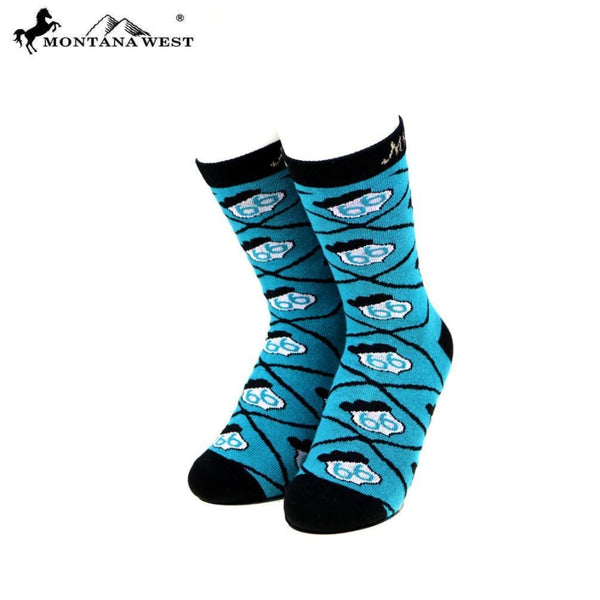 Montana West Route 66 Collection Sock Assorted Colour - Turquoise - Accessories