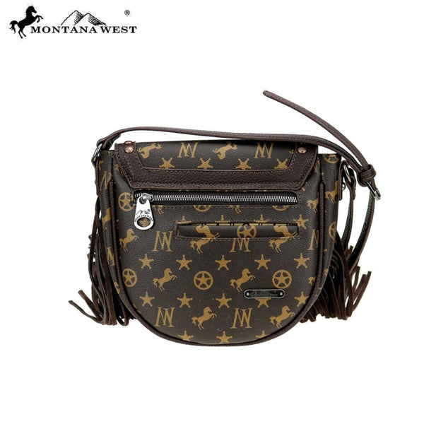 Montana West Signature Monogram Hair Calf Collection Cross Body - Bags & Purses