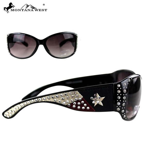 Montana West Texas Collection Sunglasses - Black - Womens Accessories
