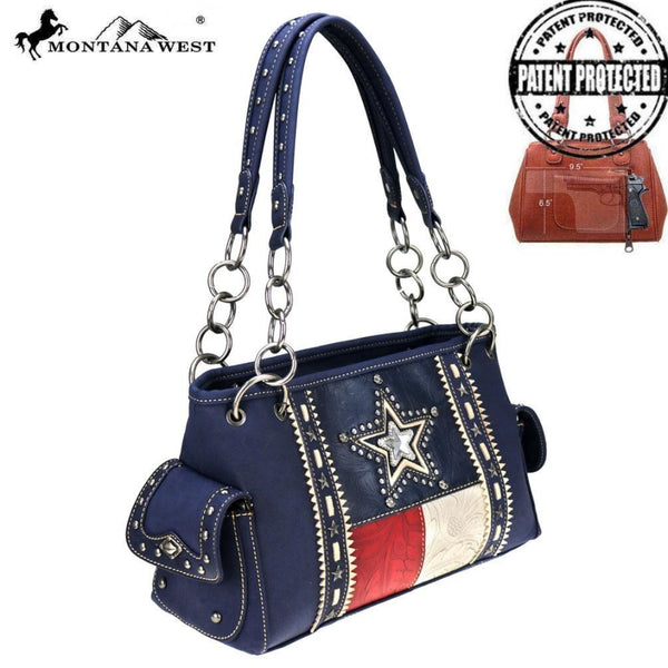 Montana West Texas Pride Collection Concealed Carry Satchel - Accessories