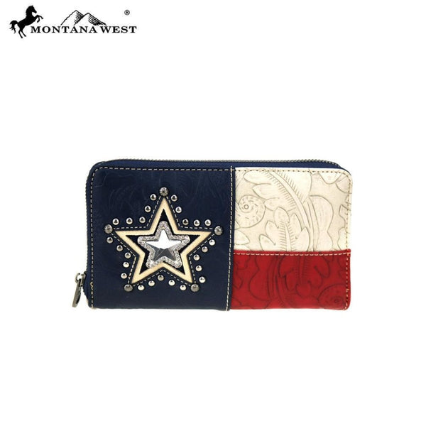 Montana West Texas Pride Collection Wallet - Navy - Accessories