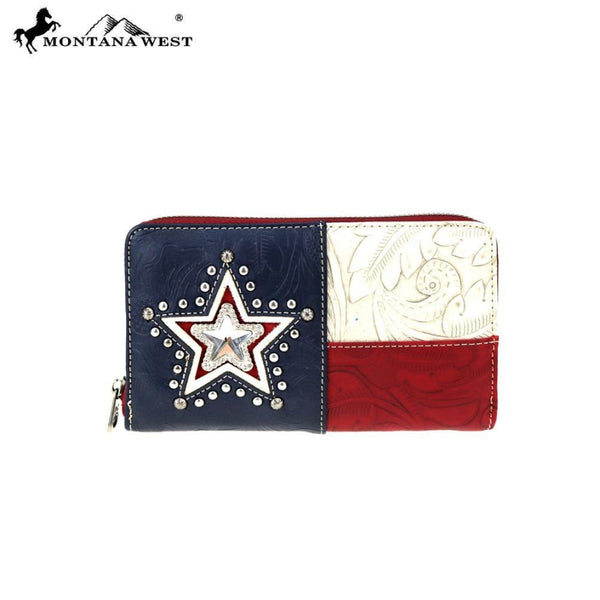 Montana West Texas Pride Collection Wallet - Red - Accessories