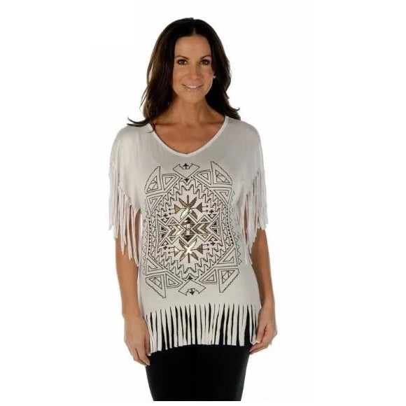 Native Diamond In White & Gold - Small - Womens Tops