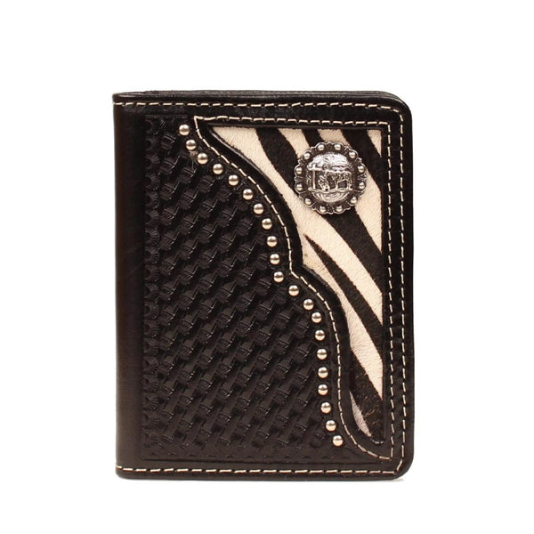Nocona Western Wallet Mens Bifold Zebra Cowboy Prayer Black - Wallets & Watches