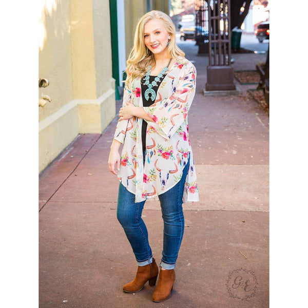 On The Backroads Kimono - Womens Outerwear