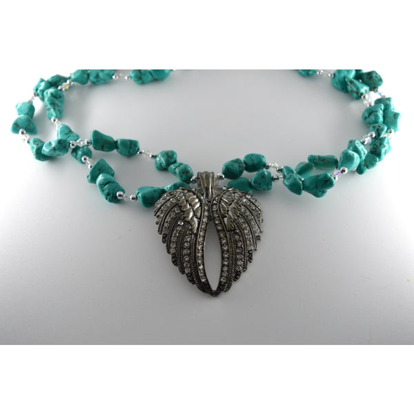 Rhinestones Wing Necklace - Jewellery
