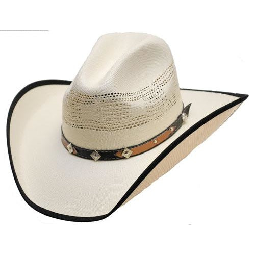 Straw Hat - Band With Diamond And Stars - Accessories