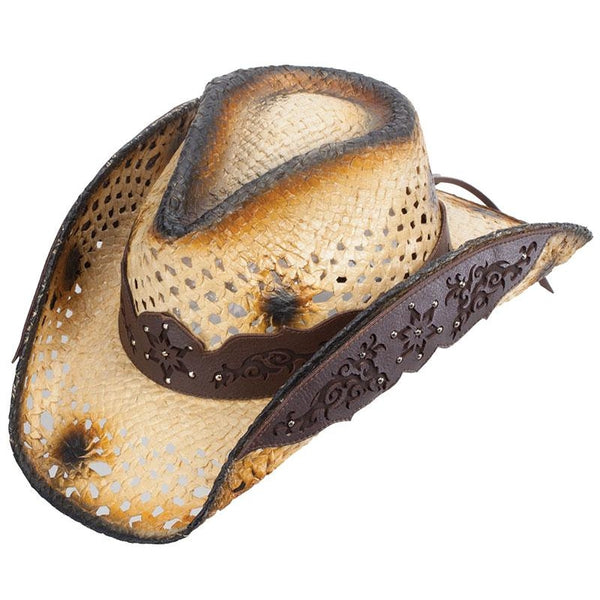 Tan Straw Cowboy Hat - Broadmore - Small/medium - Accessories