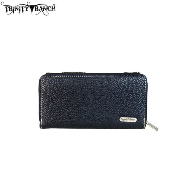 Trinity Ranch Hair-On Concho Collection Secretary Style Wallet - Bags & Purses