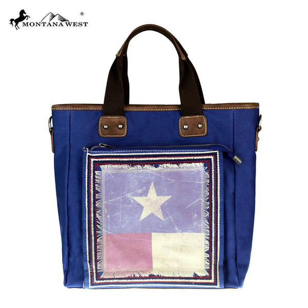 Montana West Texas Pride Collection Tote/Messenger in Navy