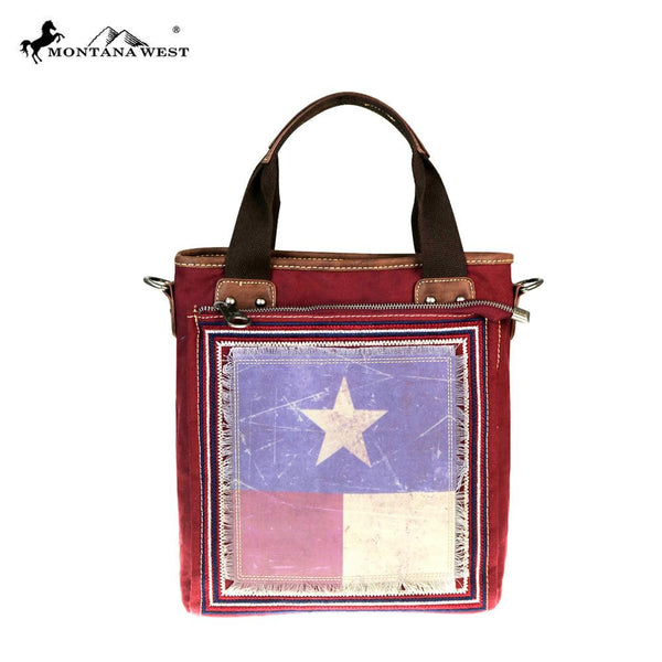 Montana West Texas Pride Collection Mini Tote/Messenger in Red