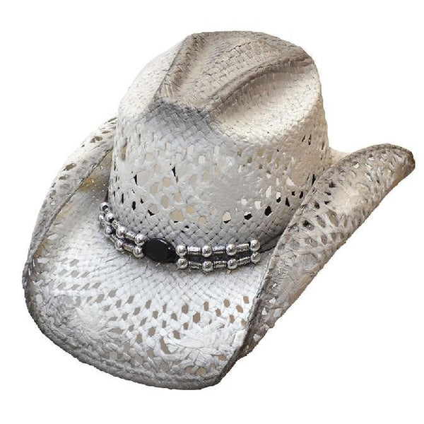 White Straw Cowboy Hat - Accessories