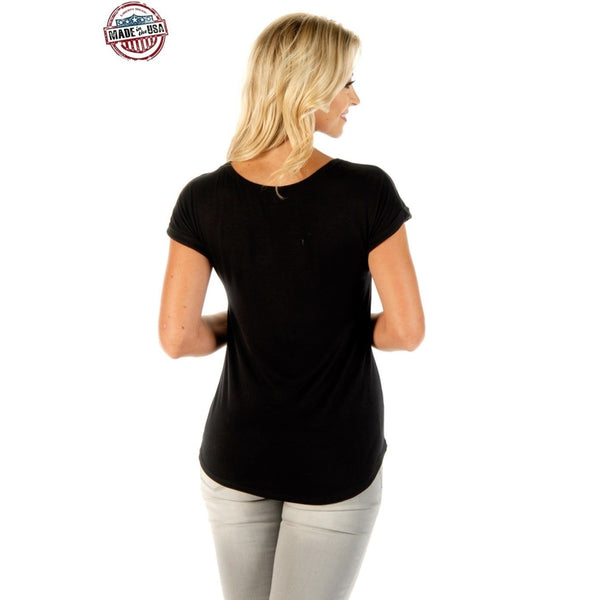 Wild & Free Steer - Womens Tops