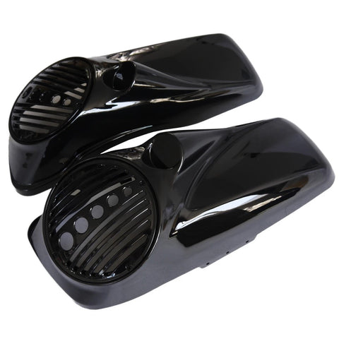 "NastyHog Color-Matched Twisted 8''/8.8"" Saddlebag Speaker Lids Cover for Harley Davidson Touring 14-19"
