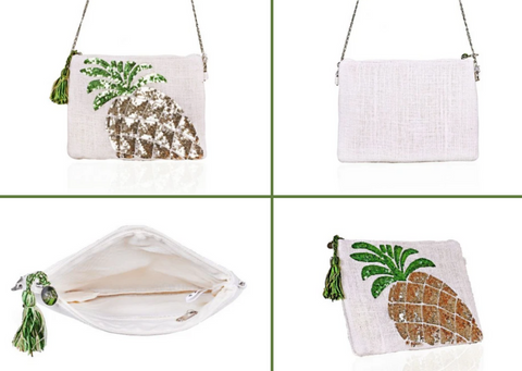 frosted pineapple stylish clutch bag
