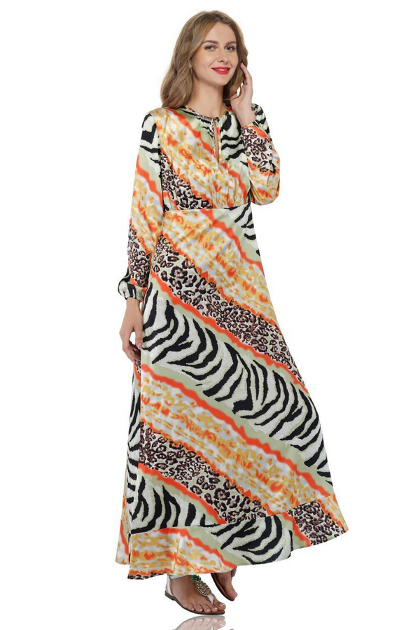Absinthe Animal Print Maxi Dress | Printed Soft Boho Maxi Dresses