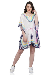 Conch Shell Embroidered Kaftan