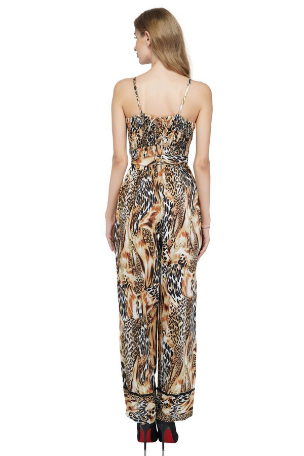 Golden Ochre Animal Print Jumpsuit