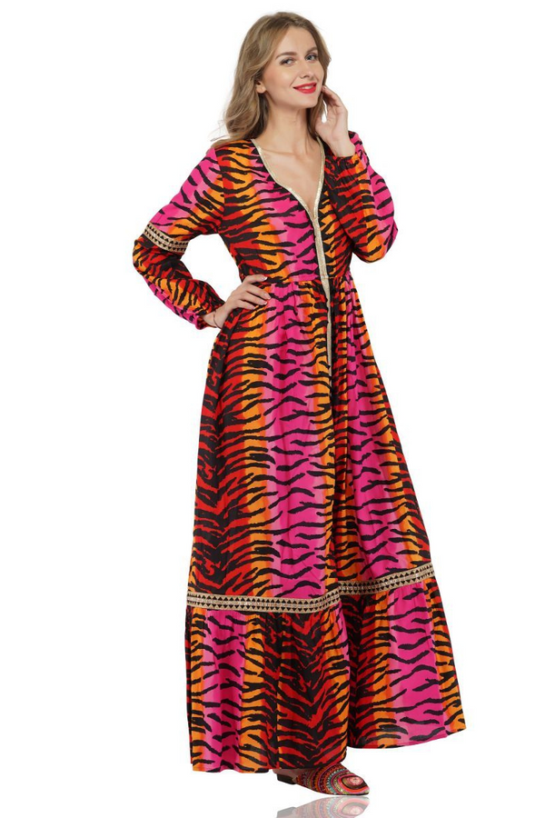 Rainbow Tiger Lace Dress | Tiger Print Dresses