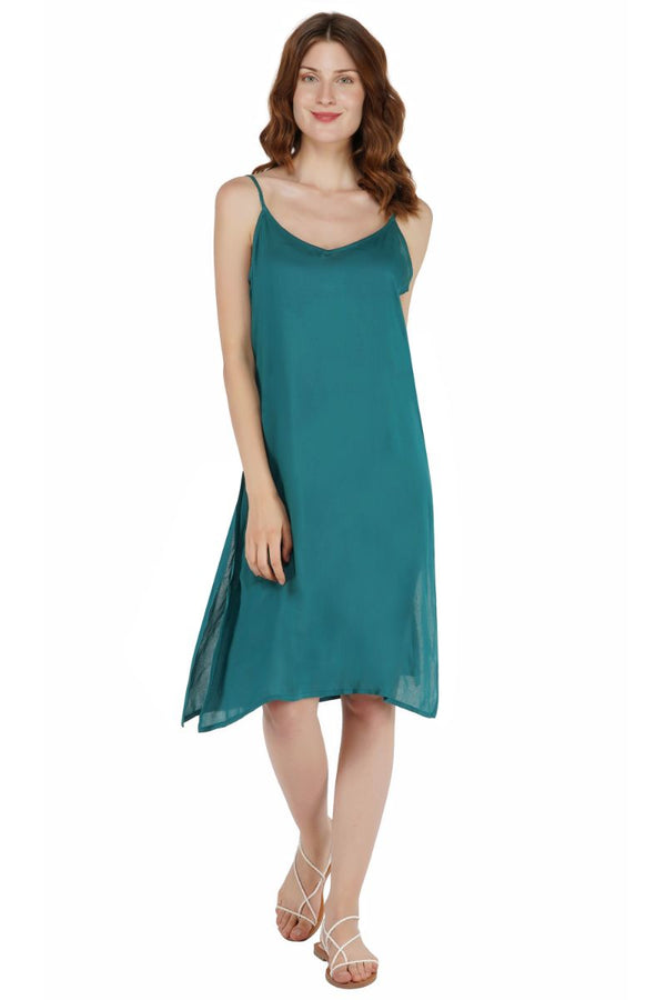 Peacock Teal Mini Dress Cover Up