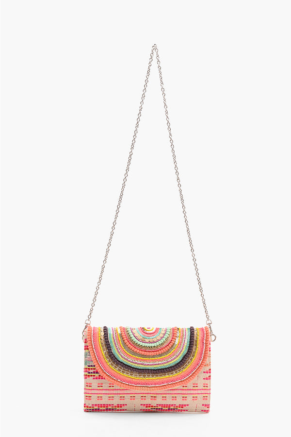 Vibrant Embellished Clutch