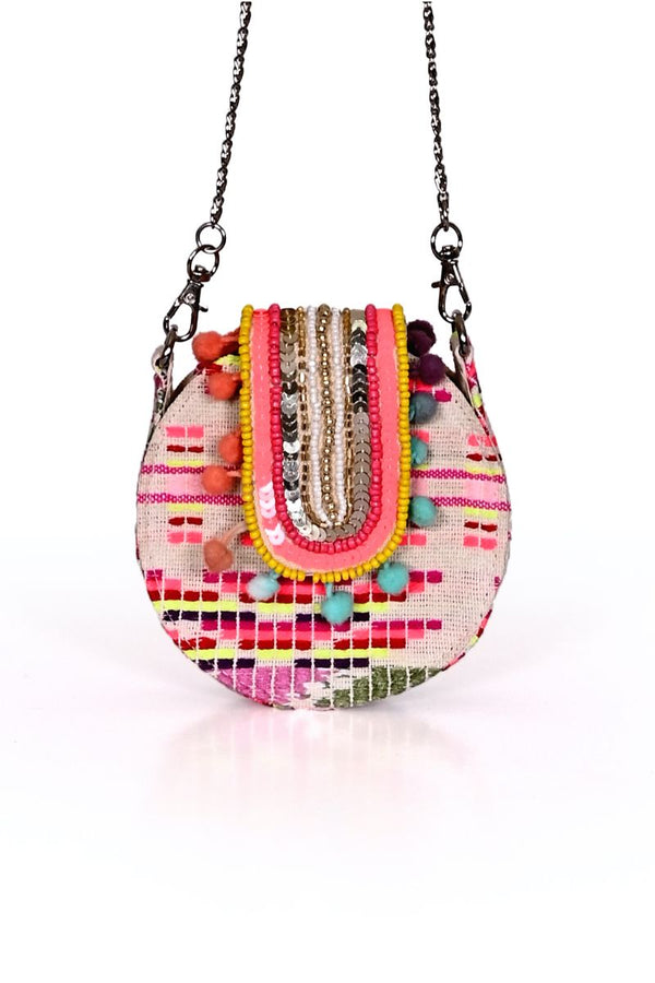 Vibrant Embellished Mini Bag