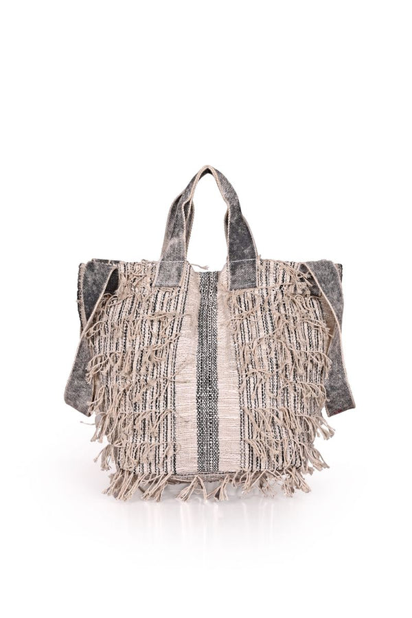 Putty Fringed Multi-Purpose Tote