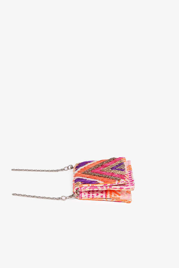 Raffia Embellished Gloria Clutch