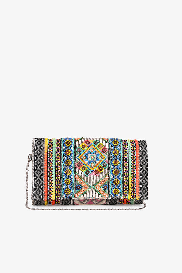 Turkish Sea Embellished Clutch