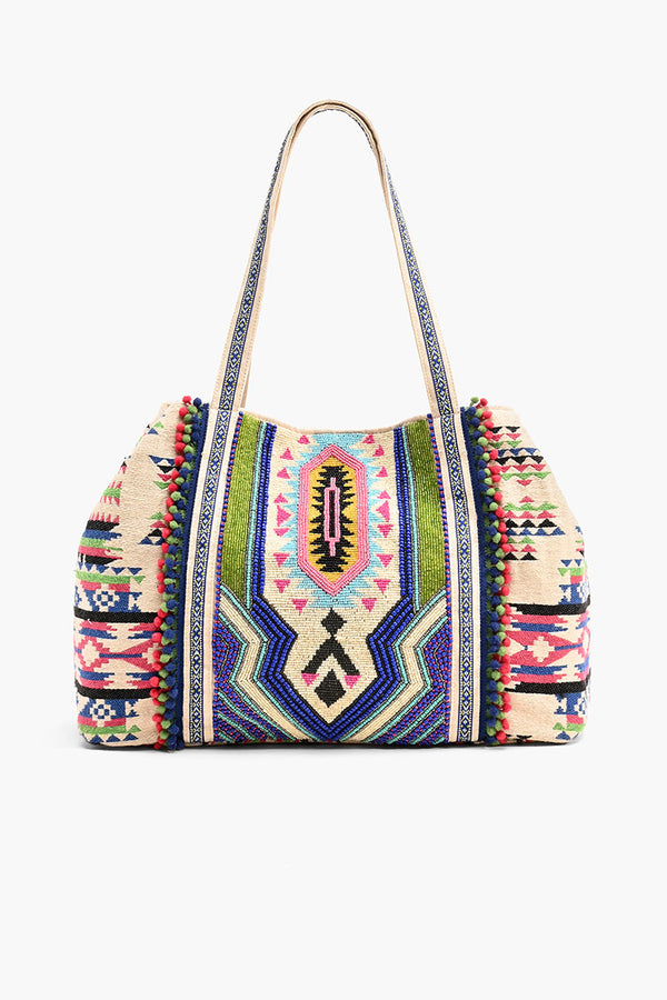 Tribal Hand-Beaded Tote Bag