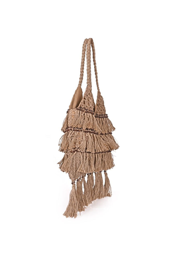 Best Boho Fringed Jute Bag