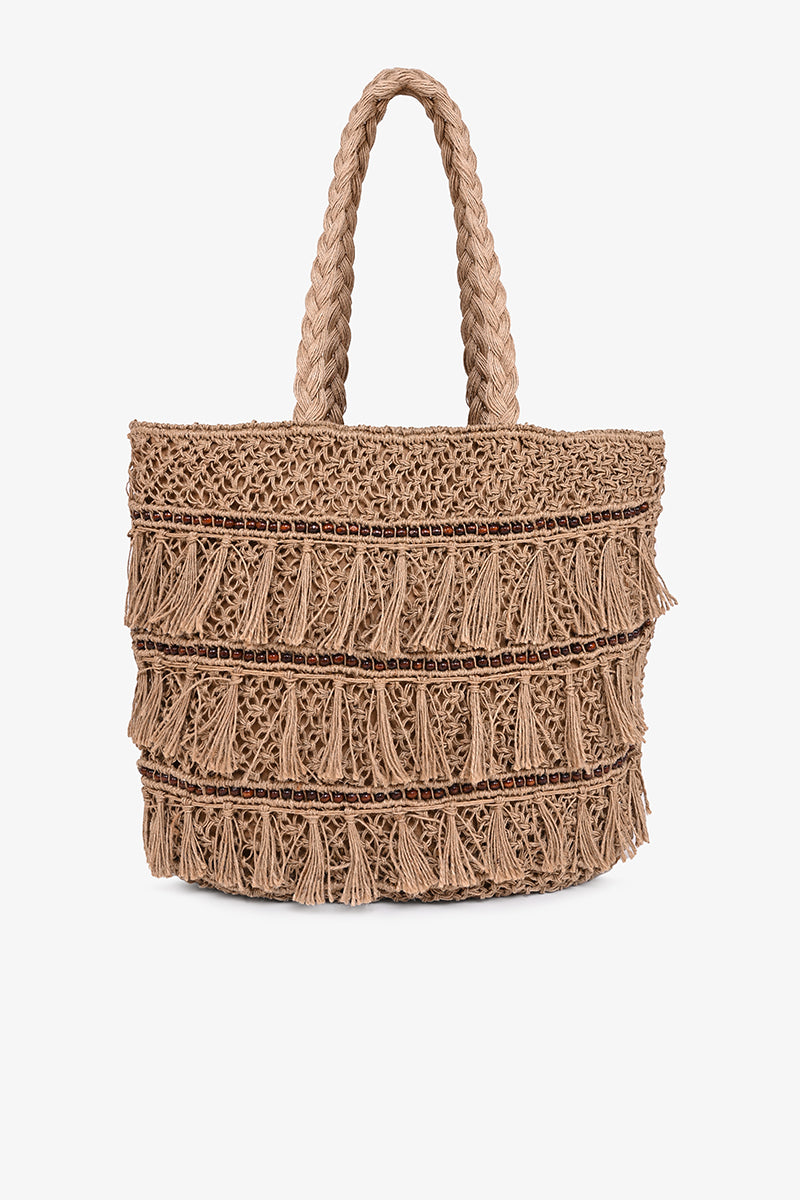 Jute Crochet Bucket Bag