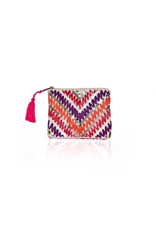 The Perfect Embellished Coin Purse in Sunburst Sweet