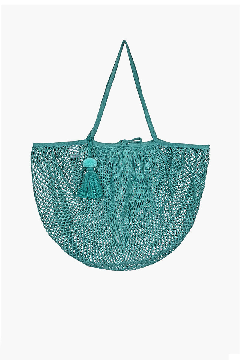 The Perfect French Market Tote in  Hand Dyed Teal