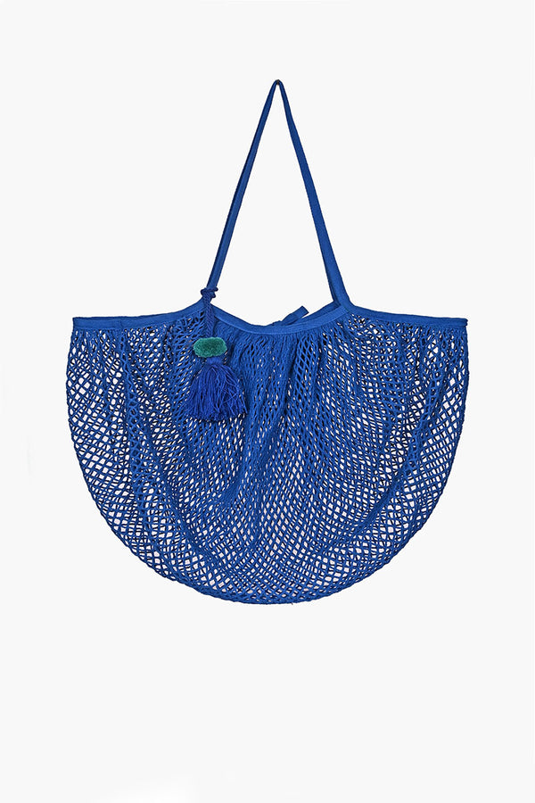 The Perfect French Market Tote in Hand Dyed Ocean Blue