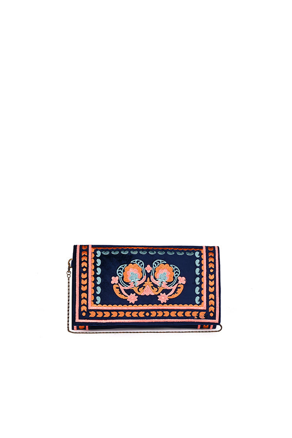Fiji Fusion Embroidered Clutch