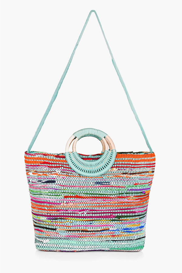 Ocean Upcycled Handwoven Tote