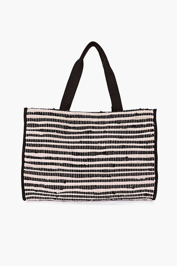 Tuxedo Upcycled Handwoven Tote