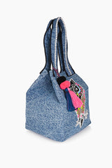 Awesome Owl Denim Tote